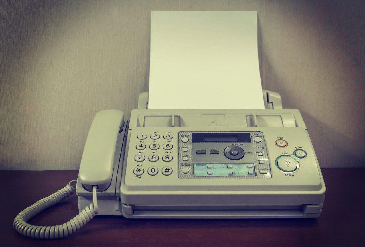 vintage fax machine